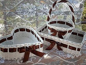 Košíky - Svadobné trio - čokoládové - 5581521_