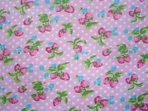 Textil - Látka bavlna jahôdky - 5583566_