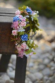 Ozdoby do vlasov - venček s motýľmi by michelle flowers - 5583544_