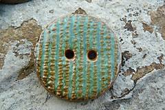 Materiál ručne robený - Gombíky zelené č.2* - 5583538_
