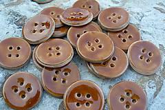 Materiál ručne robený - Gombíky medové* - 5583539_