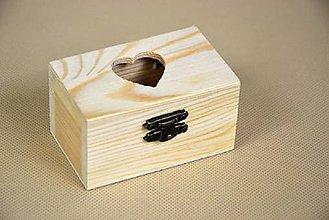 Polotovary - Drevená krabica - srdiečko - 5586022_