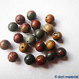 Minerály - jaspis mookait, 8 mm - 5583914_