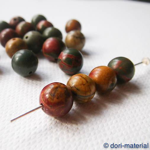 jaspis mookait, 8 mm