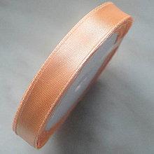 Galantéria - Saténová stuha 12,5mm-1m (marhuľová) - 5585848_