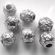 Korálky - Plast korálka 8mm-strieb-1ks - 5586034_
