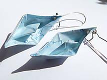 Náušnice - Origami loďky - 5585012_