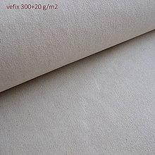 Textil - Vefix 300+20 režný - prižehľovacie plátno - 5584333_
