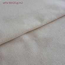 Textil - Vefix 90+20 režný - prižehľovacie plátno - 5584353_