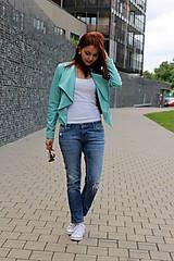 Kabáty - Dámska koženková bunda - 5585227_