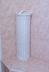 Košíky - Zásobník na toaletný papier biely - 5584435_