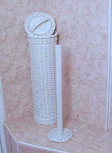 Košíky - Zásobník na toaletný papier biely - 5584437_