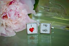 """Šperky - Manžetky na svadbu """"I love my wife"""" - 5583851_"""