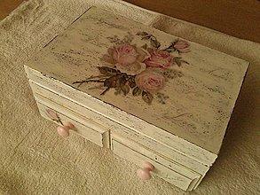 Krabičky - Šperkovnica - ruže. - 5586877_