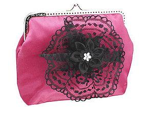 Kabelky - Dámská spoločenská kabelka růžová 1190A2 - 5586930_