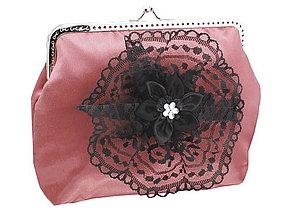 Taštičky - Dámská spoločenská kabelka staro růžová 1190A1 - 5586940_