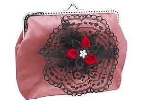 Kabelky - Dámská spoločenská kabelka staro růžová 1190A2 - 5586952_
