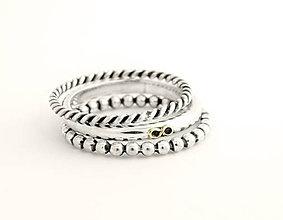 Prstene - 925 sada strieborných prsteňov Infinity - 5587831_