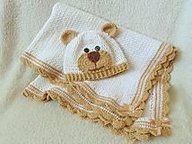 Detské čiapky - Čiapka macko pre novorodeniatko :) - 5586818_