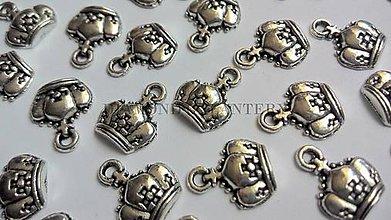 Komponenty - Prívesok Vintage koruna - 5588412_