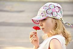 Detské čiapky - šiltovka Flowers ❀ - 5588384_