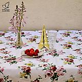 Úžitkový textil - Obrus-kvety - 5588032_