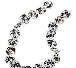Korálky - Perleťová korálka placka 20mm - 5588049_