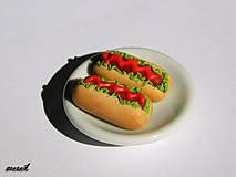 - Náušnice Hot dog-USF467 - 5590898_