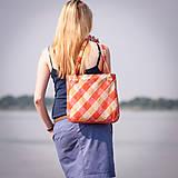 Veľké tašky - Károvaná oranžová - 5590502_