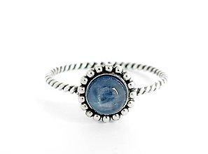 Prstene - Prsten, 925 Striebro, prírodný kyanit (R40) - 5589599_