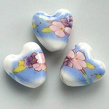 Korálky - Srdce-porcelán 14mm-1ks - 5589612_