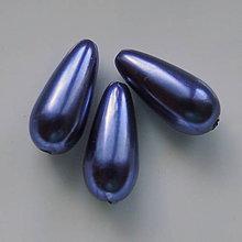Korálky - Kvapka plast 17x8mm-1ks (indigo) - 5589780_