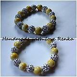 Náramky - Korálkový náramok žltý - 5590496_