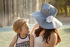 Čiapky - Dámsky klobúk Blue heart ♥ - 5590529_