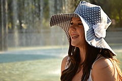 Čiapky - Dámsky klobúk Blue heart ♥ - 5590530_
