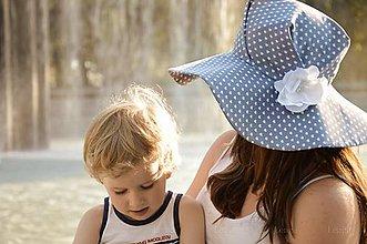 Čiapky - Dámsky klobúk Blue heart ♥ - 5590528_