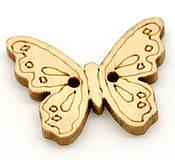 Drevený gombík motýlik