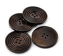 Galantéria - Drevené gombíky 38mm - 5589485_