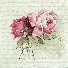 """Papier - Servítka """"Vintage ruže na písme"""" 80055 - 5589882_"""