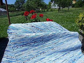 Úžitkový textil - Koberec svetlý modrý melír 160x73cm - 5589347_