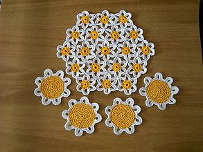 Úžitkový textil - Margarétky - háčkované prestieranie - 5592032_