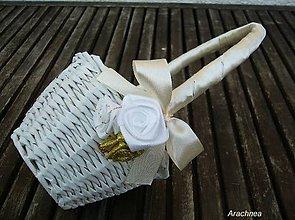 Dekorácie - košíček pre družičku (s ružami) - 5593013_