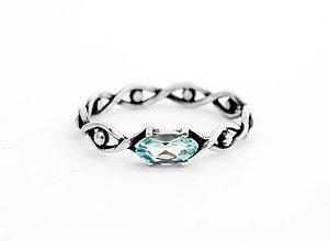 Prstene - Prsteň s topásom Všetko vidím,  striebro 925 - 5592502_