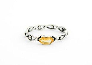 Prstene - Prsteň s citrínom Všetko vidím,  striebro 925 - 5592582_