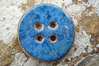 Materiál ručne robený - Gombíky modré* - 5593707_