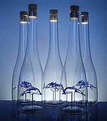 Drobnosti - láhev s dvěma delfíny - 5592992_