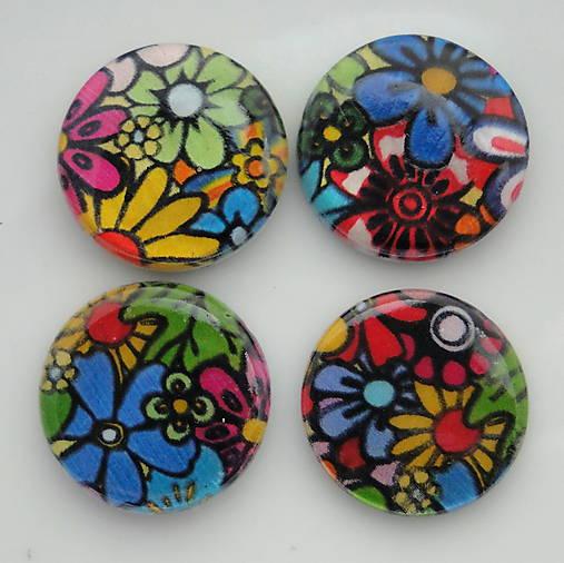 Perleť.placka 20mm-kvety-1ks (lúka)