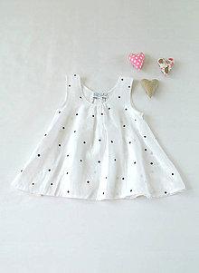 Detské oblečenie - Dievčenský ľanový top - 5593162_
