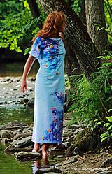 Šaty - Šaty maxi batikované, sypané a maľované SLOBODIENKA - 5591389_