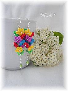 Náušnice - Veselé farby - 5593163_